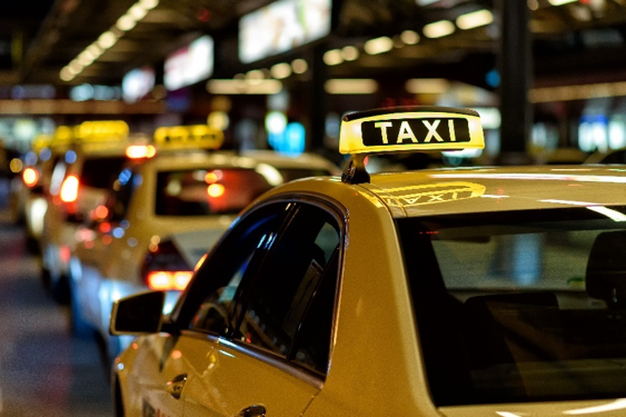 Image of a taxi